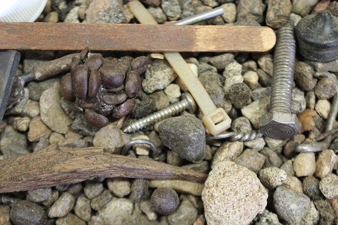 Sediment that's found in the destoner
